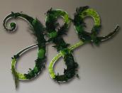 Эко-логотип из стабилизированного мха и растений