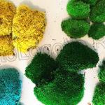 Разноцветный мох кочками