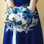 Букет из стабилизированных цветов к свадьбе