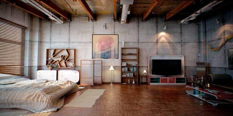 Интерьер лофт в типовой квартире
