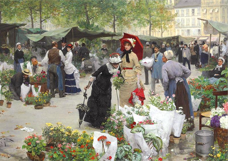 Виктор Габриэль Гилберт. Цветочный магазин.